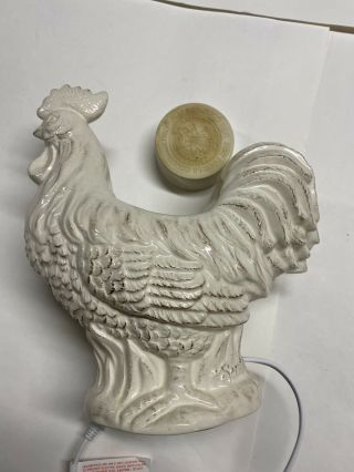 Scentsy Chantecler Rooster Warmer Rustic Large Preminum Retired Farmhouse Rare