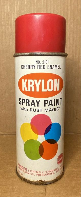 Vintage Krylon 2101 Cherry Red Spray Paint Can