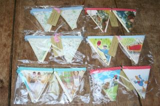Vintage Style Bunting - Made Of Old Vintage Books X 5 Packets