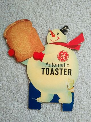 Rare Vintage 1960s Ge General Electric In - Store Display Auto Toaster Snowman