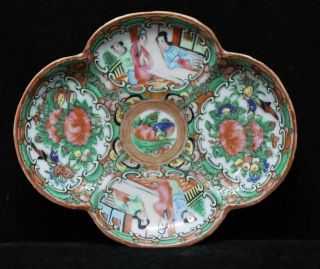 Rose Mandarin Dish Antique China