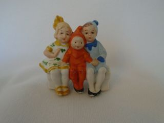 Rare German Antique Vintage Snowbabies Bisque Elf Christmas Cake Decoration