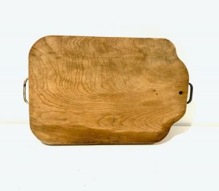 Antique/vintage Cutting Board With Handles Thick Oak Wood Board Large Size