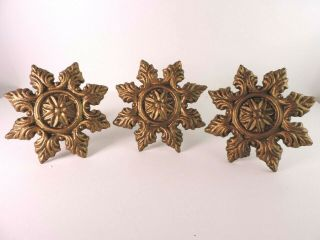 Cast Iron Curtain Tie Backs Drapery Holder Wall Mounted Adjustable 6 Inch Brass