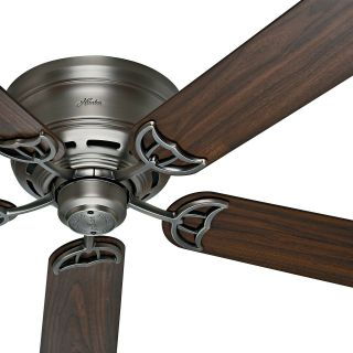 """52 """" Hunter Traditional Low Profile Ceiling Fan - Antique Pewter -"""