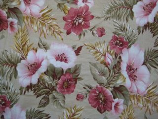 Vintage Style Charter Club? Green Tropical Floral Reversible King Duvet Cover