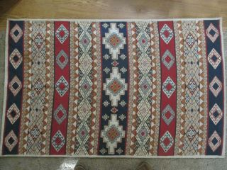 """Vintage Woven Wall Tapestry Hanging Decor Or Accent Rug 42 """" X67 """" Large"""
