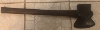 Antique Vintage Broad Head Axe Hatchet Axe Handed Looks Forged Unmarked