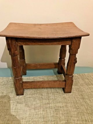 Early Robert Thompson 'mouseman'oak Stool