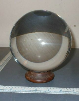 Vintage Crystal Ball W/ Stand