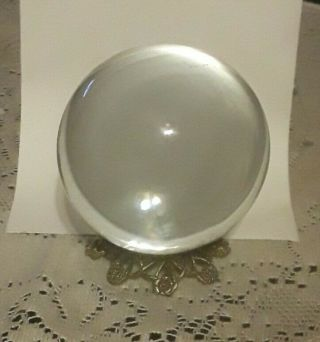 Vintage Crystal Ball 70mm   Natural Clear Sphere.