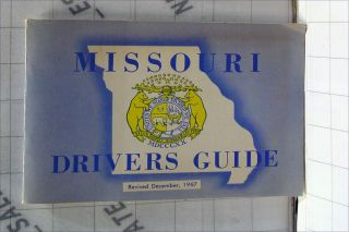 Vintage 60s Driving Ed Mo State 1967 Missouri Drivers Guide License Test Prep
