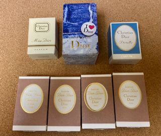 9 Christian Dior Perfume Minis & Gift Offerings - Including 4 Micro Pebbles