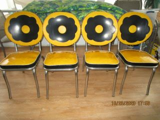 1950s Vintage Retro Dining Set,  Table And Four Chairs