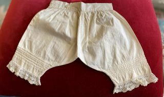 Antique Cotton Pantaloons For French / German Bisque Doll